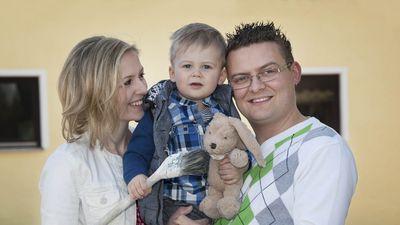 Malermeister Baumann und Familie